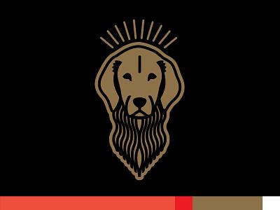 Golden Icon & Palette gold color bike dog golden