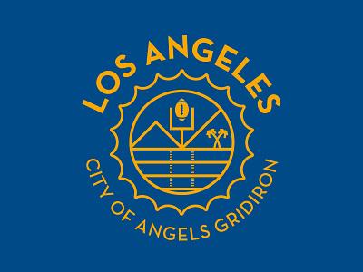 Los Angeles Football palm trees sun gridiron rams football la