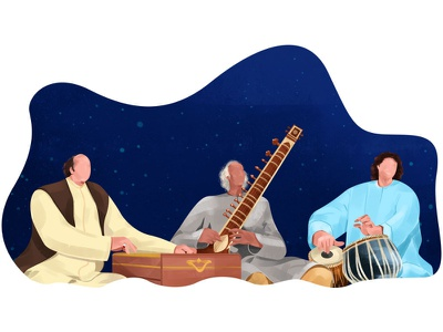 Legends character illustration music concert song artist hindustani indian india music