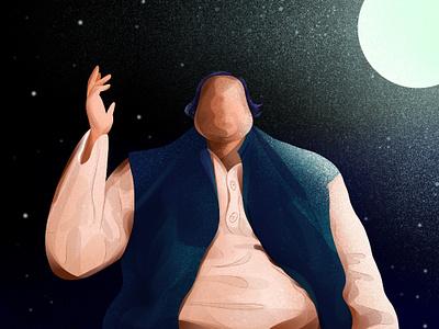 Nusrat fateh ali khan pakistan star night moon song singer