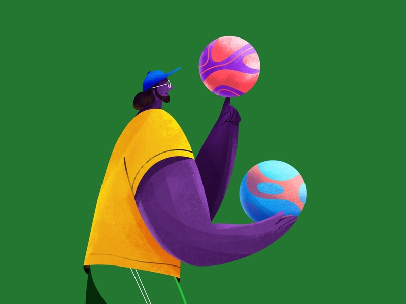 Magic at his fingertips ground cap fun characterdesign game skill player coach ball football