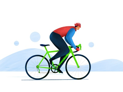 Cycling mountain character illustration sports refresh exercise cyling hobby rider ride cycle