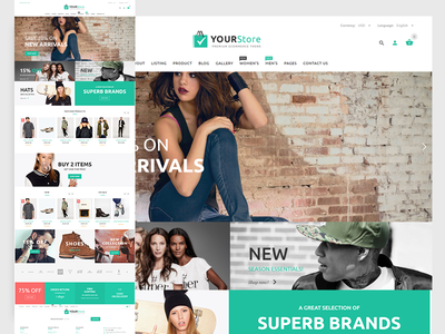 YourStore - Woocommerce theme parallax purpose multi menu store boutique fashion themes templates woocommerce apparel