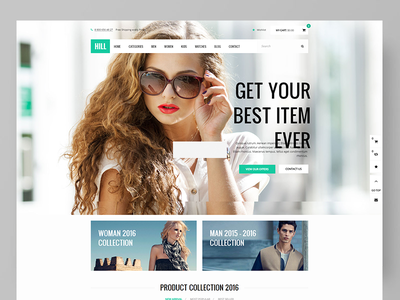 HILL - Premium Responsive WooCommerce Theme  shopping restaurant cosmetics and perfume shop parallax furniture fashion electronics ecommerce creative