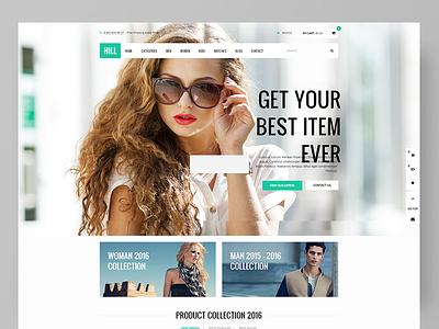 HILL - Premium Responsive WooCommerce Theme  shopping restaurant cosmetics and perfume shop parallax furniture fashion electronics ecommerce creative