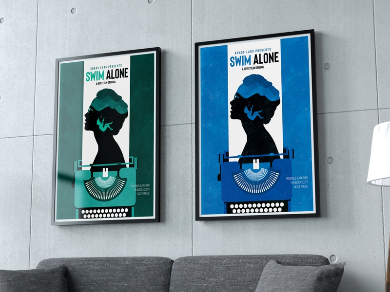 Swim Alone - Movie Poster vector poster a day poster of the day posters art dribbble illustration design minimalist poster poster design poster art movie art poster designs poster movie posters movie poster