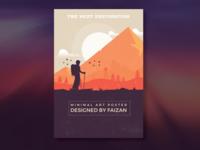 The Next Destination Minimalist Poster