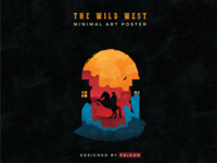 The Wild West Minimal Poster