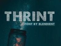 Thrint - The Thumbprint Font
