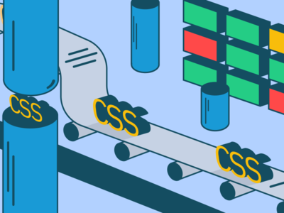 Css Production vector design illustration