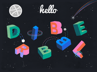 My first dribbble in space
