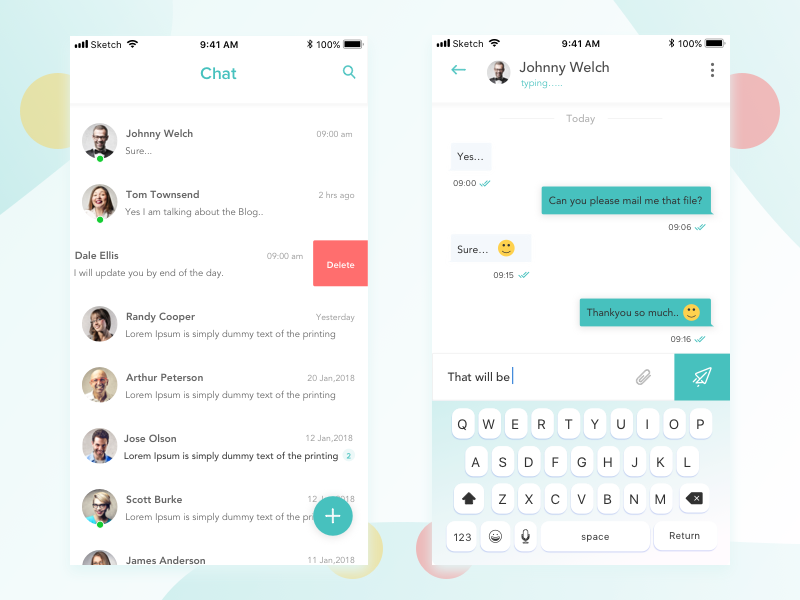 Chat Ui style art exploration design visual ux ui