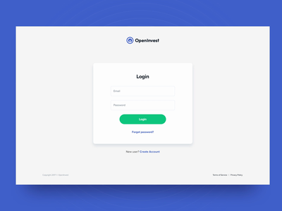OpenInvest - Institutional Dashboard animation ux ui