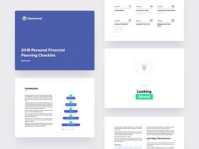 OpenInvest - ebook layout investing ebook branding illustration design