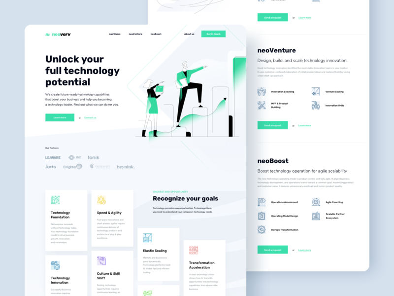 Neoverv - landing page consulting webdesign design ux ui