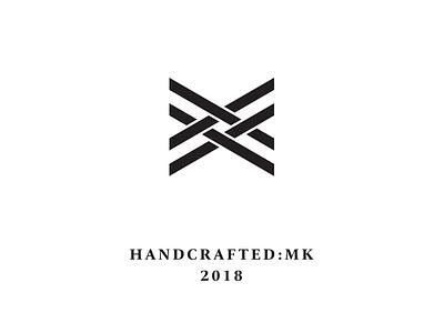 Handcrafted Logo lines black handcraft thread x logo