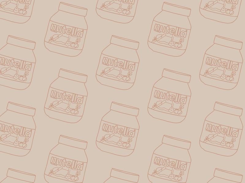 Nutella Pattern adobe illustrator pattern design nutella pattern
