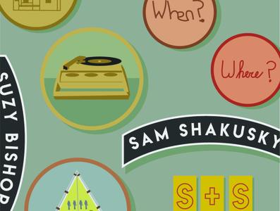 Sam and Suzy Badges wes anderson badges logo design logo moonrise kingdom adobe illustrator