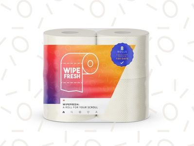 Wipe Fresh Toilet Paper instagram wipe toiletpaper toilet paper icon design typography vector branding logo design adobe illustrator