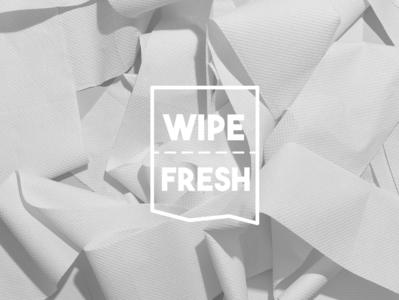 Wipe Fresh Branding toilet paper branding concept typography design branding vector logo logo design adobe illustrator