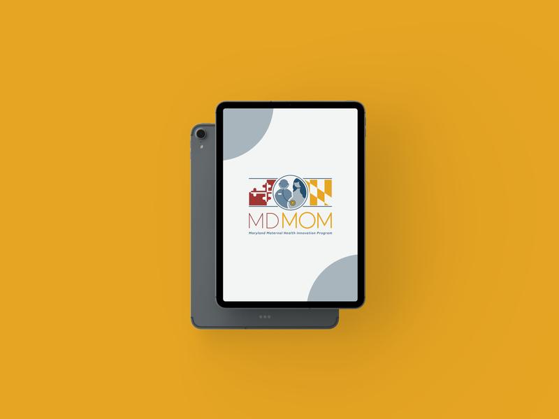 MDMom Logo medical design medical logo healthcare icon vector typography logo design branding adobe illustrator illustration