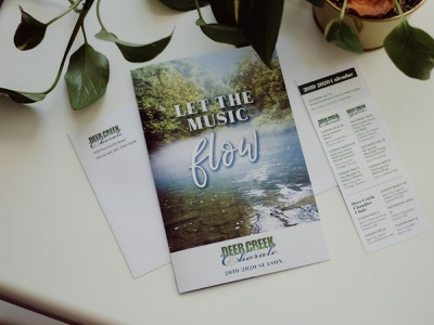 Deer Creek Chorale Donor Mailer bookmark layout design adobe indesign nonprofit donors campaign design