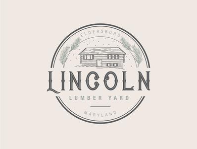 Lincoln Lumber Logo illustrator illustration art lumber branding design logo logo design adobe illustrator