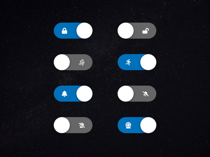 SafeSpace Custom Switches dark mode dark ui dark space safespace on off switches switch setting 015 app ui design clean daily ui daily ux challenge dailyui ui design