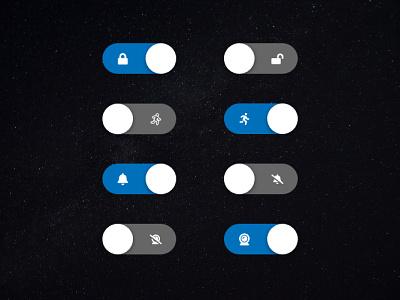 SafeSpace Custom Switches dark mode dark ui dark space safespace on off switches switch setting 015 app ui design clean daily ui daily ux challenge dailyui ui design
