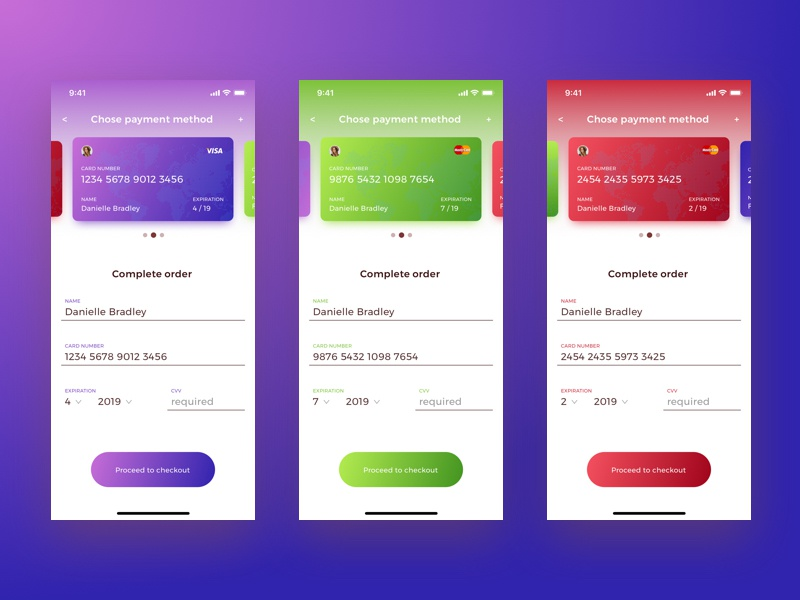 Daily UI 002 - Credit Card Checkout 002 credit card challenge daily ui daily interface dailyui checkout bank card design ui