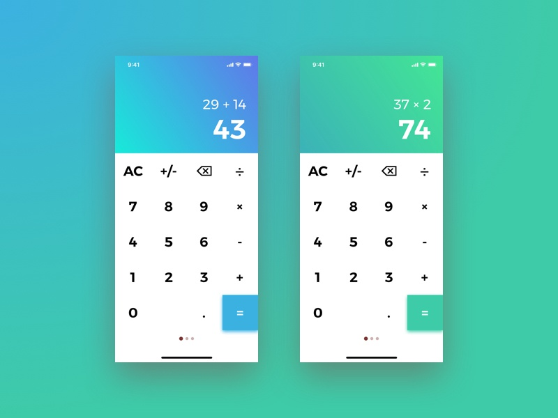 Daily UI 004 - Calculator 004 colorful app calculator gradient challenge daily ui daily dailyui design interface ui