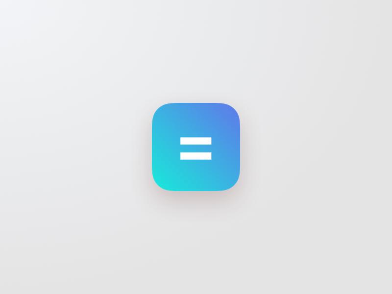 Daily UI 005 - App Icon gradient app icon icon calculator 005 challenge daily ui daily dailyui design interface ui
