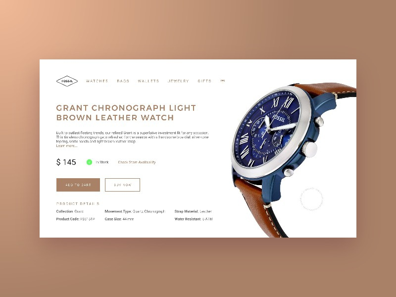 Daily UI 012 - E-Commerce Shop commerce shop watch 012 challenge daily ui daily dailyui design interface ui