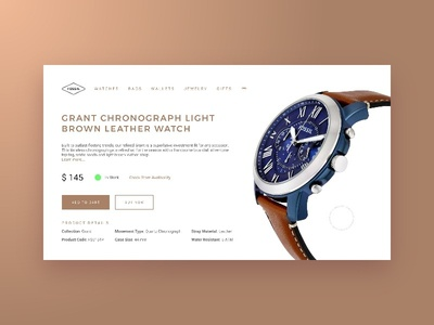 Daily UI 012 - E-Commerce Shop