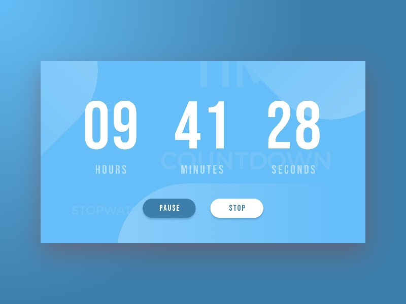 Daily UI 014 - Countdown Timer stopwatch clock countdown timer 014 challenge daily ui daily dailyui design interface ui