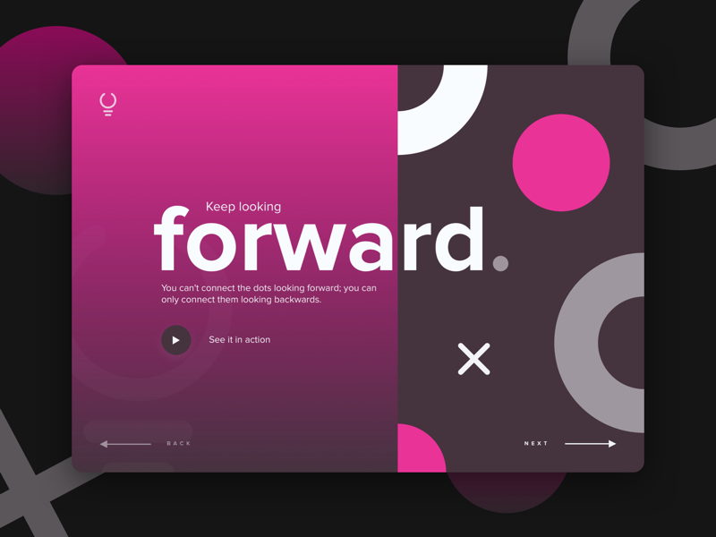 forward. typography gradients gradient round forward ovals circles product web page landing ux ui