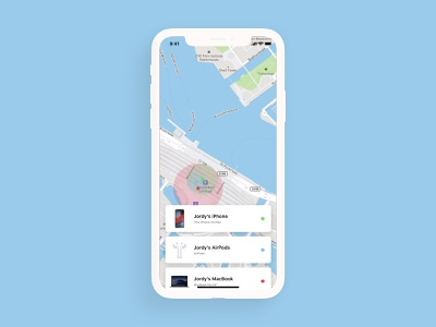 Daily UI 020 - Location Tracker maps navigation gps tracking tracker amsterdam macbook airpods app find my iphone location map apple iphone ui ux challenge design