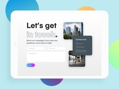 Daily UI 028 - Contact Us sketch webdesign form contact 028 typography newsletter message landing page web gradient clean ui design daily ui dailyui daily challenge design interface ui