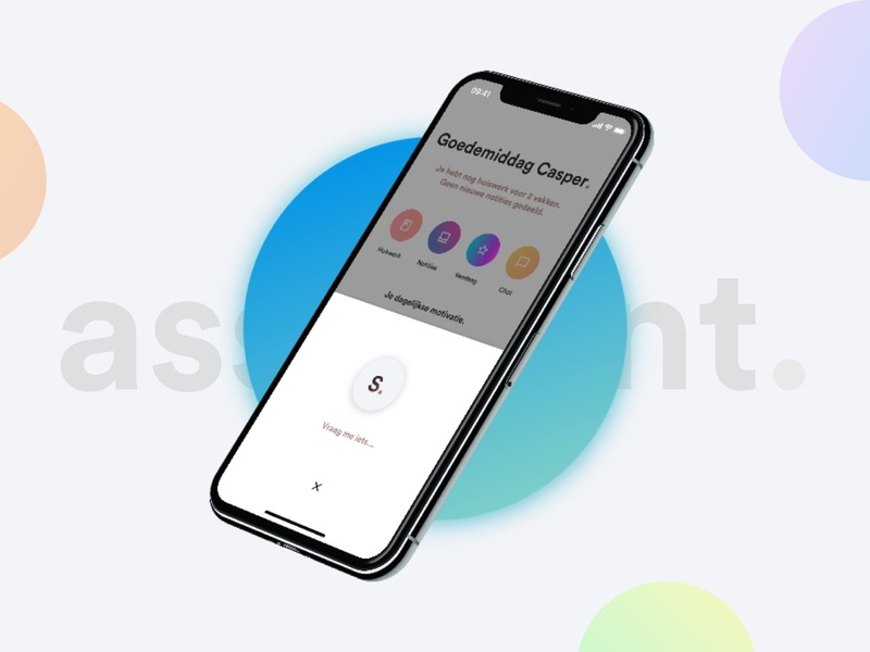 Schoolings - Assistant. alexa siri assistant voice dashboard notes school app schooler schoolings school dribbble card gradient app ui design clean ux interface design ui