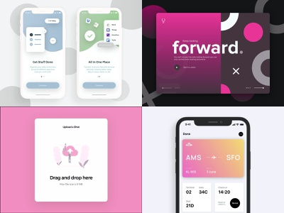 Your favorite shots of 2019 wallet forward 2019 trends wrapped review year in review yearbook year 2020 2019 web dribbble card gradient app ui design ux interface design ui