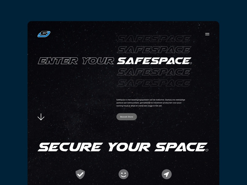 SafeSpace website web design dark websites type typogaphy space safespace site webdesign website web branding dribbble ui design clean interface design ui