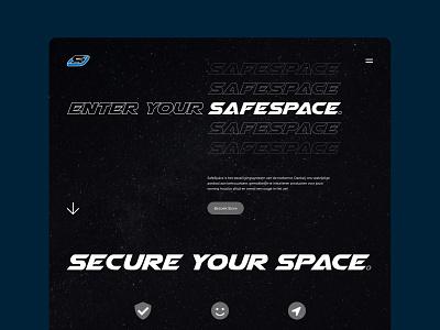 SafeSpace website web design dark websites type typogaphy space safespace site webdesign website web branding dribbble ui design clean interface design ui