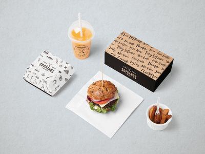 Sopranos - burgers packaging