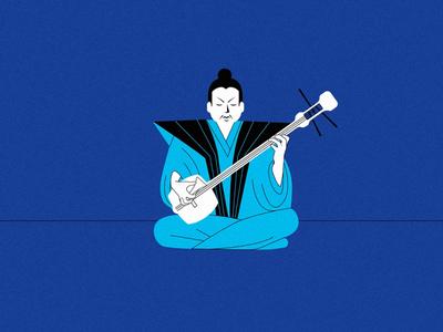 Jammin' cel vector art illustrator illustration