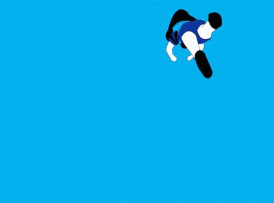 Falling action vector stillframe cel illustrator illustration