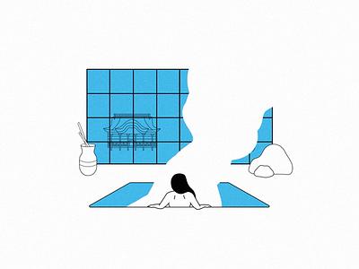 Steamy! graphic vector line minimal illustration illustrator stillframe