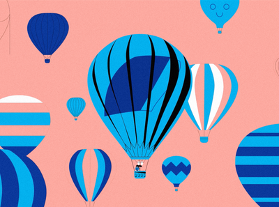 Ballooning balloon vector illustration illustrator graphic stillframe hotairballoon