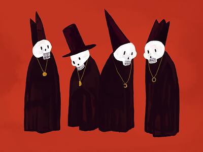 Skeleton Party hat illustration art raster illustration design art paint skeleton acrylic photoshop illustration