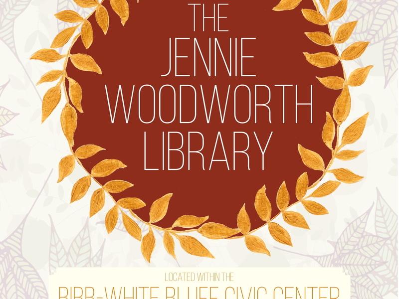 Jennie Woodward Library Information Flier adobe indesign graphic design library graphic design fall flier autumn flier indesign print design typography design