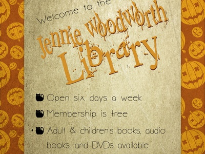 Jennie Woodworth Library Halloween Flier 02